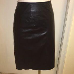 Bagatelle black leather look skirt. Size 12